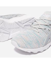 Asics - Blue Gel - Kayano Trainer Knit Lo for Men - Lyst