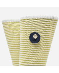 Folk - Yellow Rib Stripe Socks - Lyst