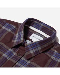 Norse Projects - Purple Osvald Melange Twill Check Shirt for Men - Lyst