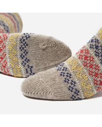 Anonymous Ism - Natural Flower Stripe Socks for Men - Lyst
