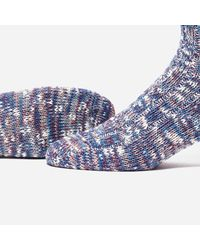 Anonymous Ism - Blue Holiday 3 Colour Slub Mix Crew Socks for Men - Lyst
