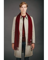 Norse Projects - Norse X Johnstons Lambswool Scarf Red Clay for Men - Lyst