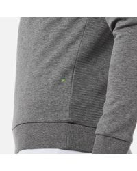 BOSS Green - Gray Salbo Large Logo Sweatshirt for Men - Lyst