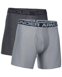 Under Armour - Gray O Series 6'' Boxerjock Boxer Briefs 2 Pack for Men - Lyst