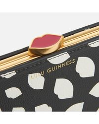 Lulu Guinness | Multicolor Scattered Lips Flat Frame Purse | Lyst