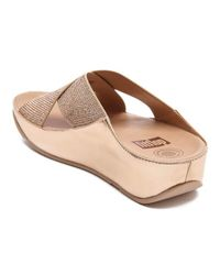 Fitflop - Pink Women's Crystall Slide Sandals - Lyst
