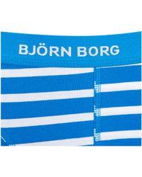 Björn Borg | Blue Three Pack Bb Stripe Boxer Shorts for Men | Lyst