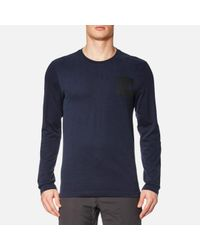 The North Face | Blue L/s Fine T-shirt for Men | Lyst