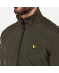 Lyle & Scott - Green Zip Through Funnel Neck Soft Shell Jacket for Men - Lyst