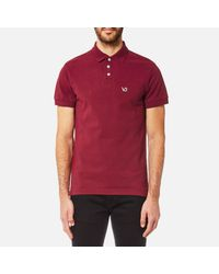 Versace Jeans - Red Small Vj Logo Polo Shirt for Men - Lyst