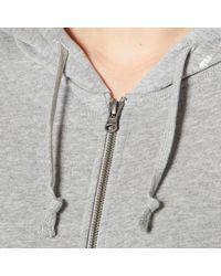 Converse - Gray All Star Metallic Full Zip Hoody - Lyst