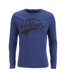 Tommy Hilfiger - Blue Organic Cotton T-shirt for Men - Lyst
