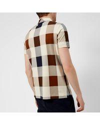 Aquascutum - Multicolor Men's Cody Large Check Polo Shirt for Men - Lyst