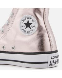 Converse - Metallic Chuck Taylor All Star Hi-top Trainers - Lyst