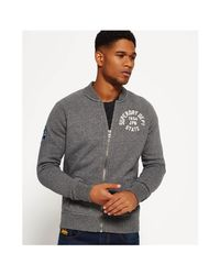 1f5a11636127d8 Lyst - Superdry Applique Bomber Jacket in Gray for Men