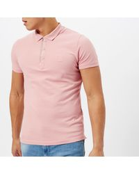 0a034fcf DIESEL Kalar Polo Shirt in Pink for Men - Lyst