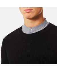 HUGO - Black Men's Somael Rib Knit Jumper for Men - Lyst