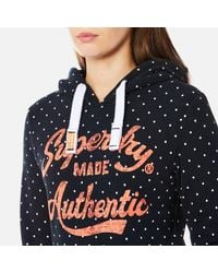 Superdry Blue Made Authentic Hoody