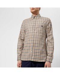 Aquascutum - Multicolor Men's York Club Check Long Sleeve Shirt for Men - Lyst