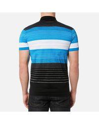 BOSS Green - Black Paddy 3 Striped Polo Shirt for Men - Lyst