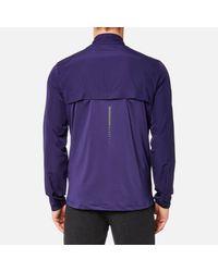Asics - Purple Running Jacket for Men - Lyst