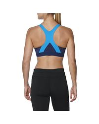 Asics - Blue Race Sports Run Bra - Lyst