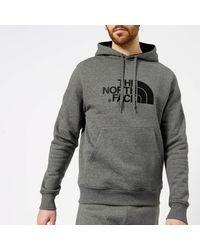 The North Face - Gray Drew Peak Hoodie Tnf Medium Grey Heather/tnf Black for Men - Lyst