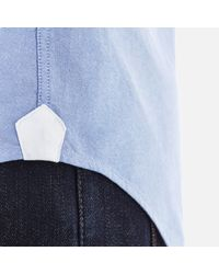 Tommy Hilfiger - Blue Plain Oxford Long Sleeve Shirt for Men - Lyst