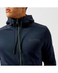 BOSS Green - Blue Saggy Zipped Hoody for Men - Lyst