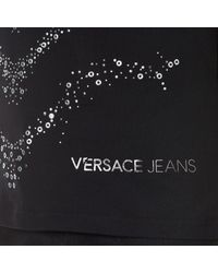 Versace Jeans - Black Slim Fit Studded Wave Pattern T-shirt for Men - Lyst