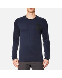 The North Face - Blue L/s Fine T-shirt for Men - Lyst