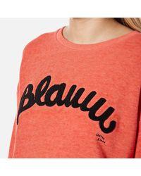 Maison Scotch - Orange Women's Blauw Burnout Sweatshirt - Lyst