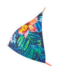 Superdry - Blue Marbled Hawaii Tri Bikini Top - Lyst