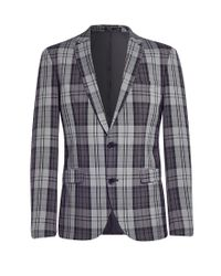 SELECTED - Gray Zero Hyde Single Breasted Blazer Grey for Men - Lyst