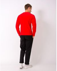 Champion - Reverse Weave Crew Neck Sweatshirt Red for Men - Lyst