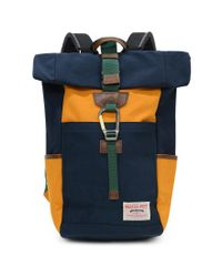 Master Piece - Blue Link Roll Top Backpack Navy & Yellow for Men - Lyst