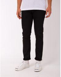 Nudie Jeans | Grim Tim Dry Black Selvedge Jeans for Men | Lyst