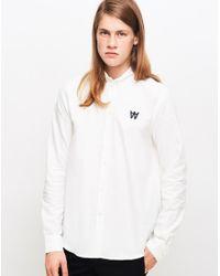 WOOD WOOD - Timothy Shirt White for Men - Lyst