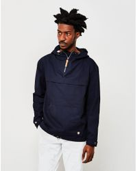 Armor Lux | Blue Hooded Fisherman's Smock Jacket Navy for Men | Lyst