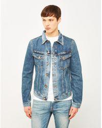 Nudie Jeans | Billy Denim Jacket Crunch Blue for Men | Lyst