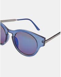 Trip - Crystal Blue Revo Sunglasses - Blue for Men - Lyst