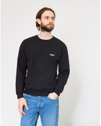 The Idle Man - Anything Once Embroidered Sweatshirt Black for Men - Lyst