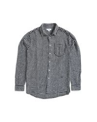 Soulland - Greene Checked Shirt Black & White for Men - Lyst