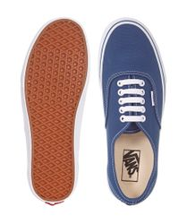 Vans - Blue Authentic Plimsolls In Canvas for Men - Lyst
