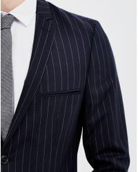 SELECTED - Blue Lou Alan Navy Stripe Blazer for Men - Lyst