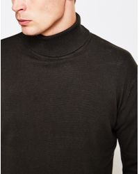 The Idle Man | High Roll Neck Jumper Green for Men | Lyst