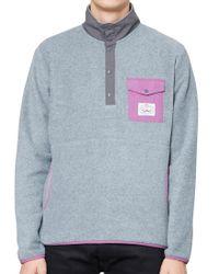 Poler - Gray Snap Fleece Grey for Men - Lyst