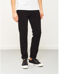 The Idle Man - Slim Fit Chino Black for Men - Lyst