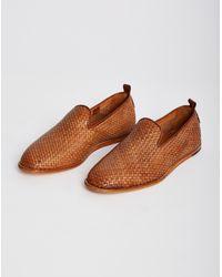 Hudson - Brown Ipanema Weave Woven Slip-on Tan for Men - Lyst