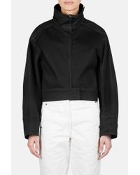 Lemaire - Black Structured Blouson Jacket With Contrast Stitch - Lyst